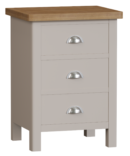 Richmond Painted Oak 3 Drawer Bedside